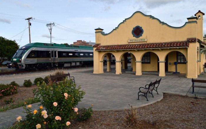 SMART train at the Petaluma Visitors Center
