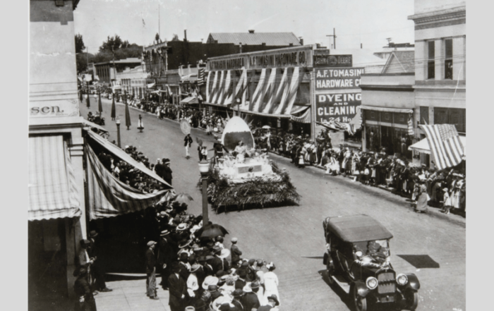 The Egg Day Parade in 1918