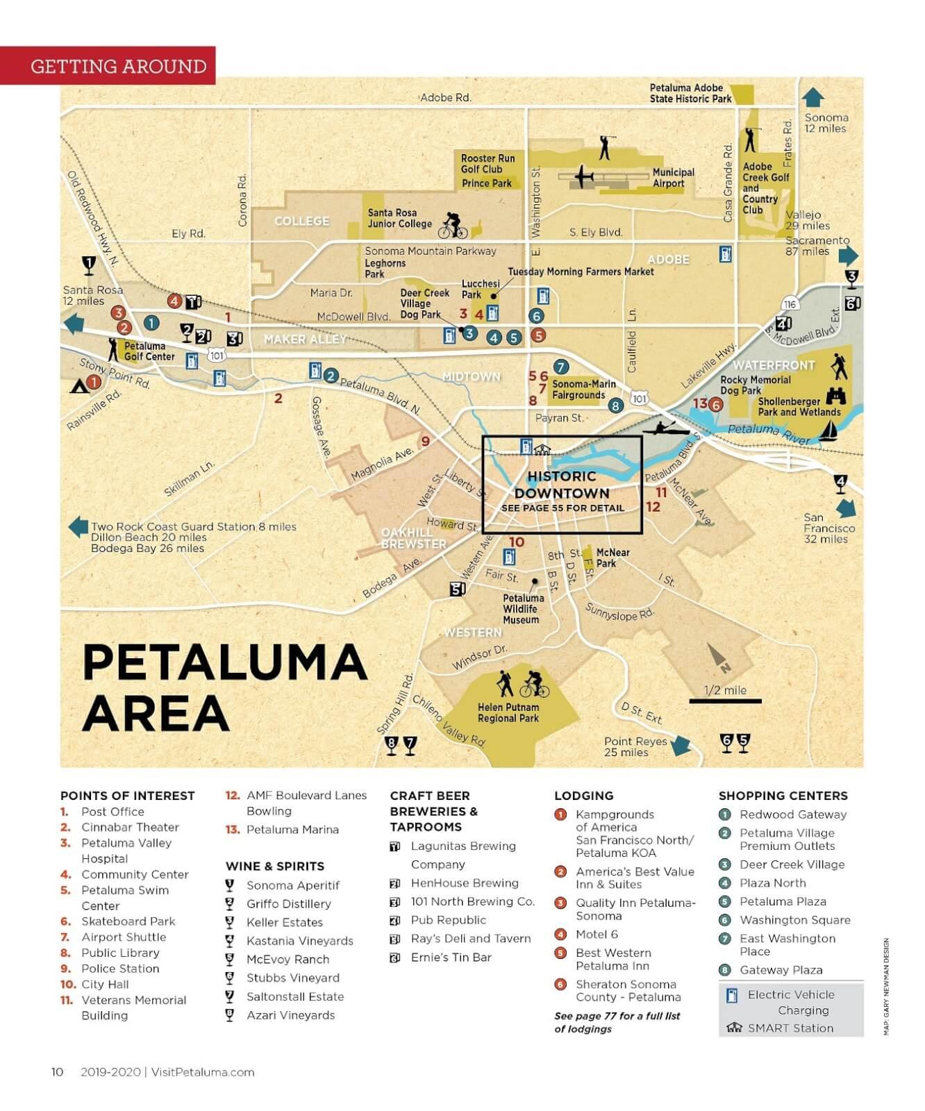 Petaluma Maps and Transportation – Visit Petaluma California